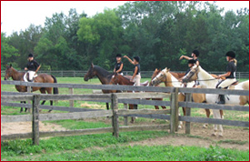 Riding Lesson at Tamarack Stables
